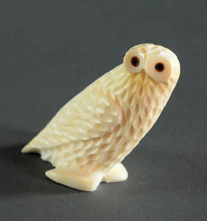 Owl Carving by Charles Slwooko