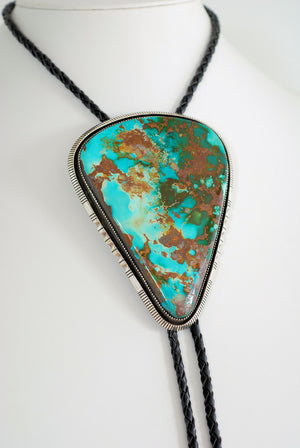 XL Royston Turquoise Bolo Tie by M.J. Johnson