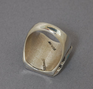 "Zuni ""Knifewing"" Inlay Ring by Harlan and Monica Coonsis"