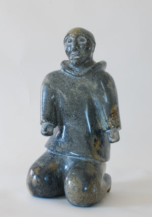 Kneeling Man Inuit Sculpture