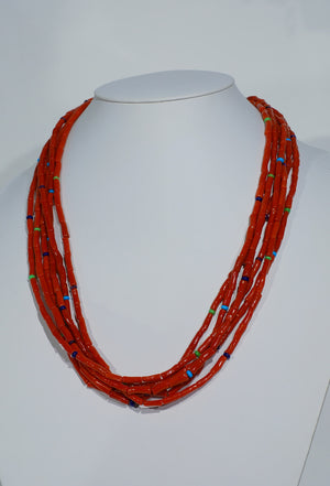 Six-Strand Coral Necklace by Desiree Yellowhorse - Outstanding!