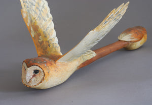 Owl Dream Stick (Original Wood Sculpture) by Hib Sabin