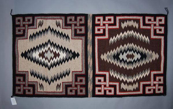 Navajo weaving, Double Saddle Blanket 72x36 by Arlene Whitehair