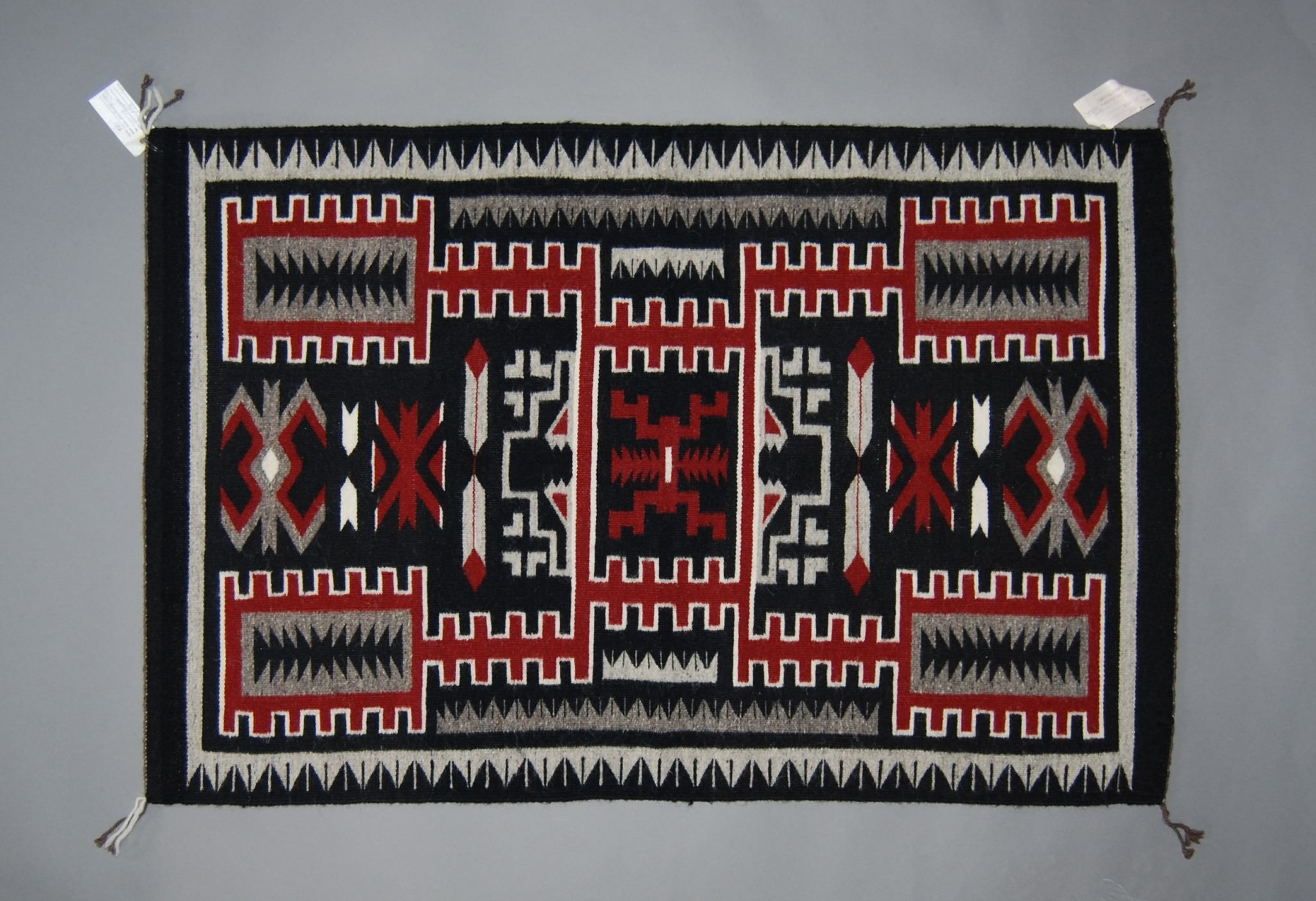 Navajo Weaving, Storm Pattern Dinnebito by Rose Dan Begay 48x30