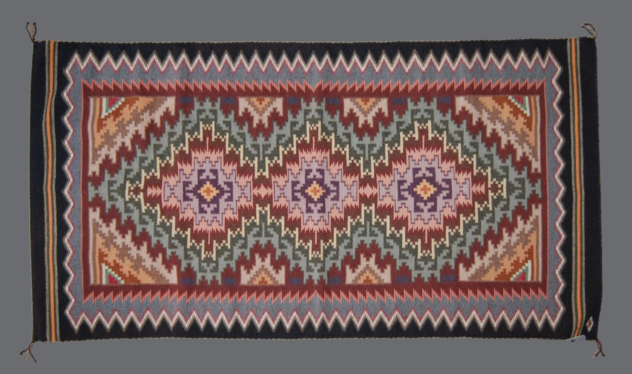 Navajo Weaving; 72x36 Burntwater by Rena Whitney