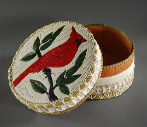 "8"" 3-layer Cardinal Quill Box by Marjorie Spanish"