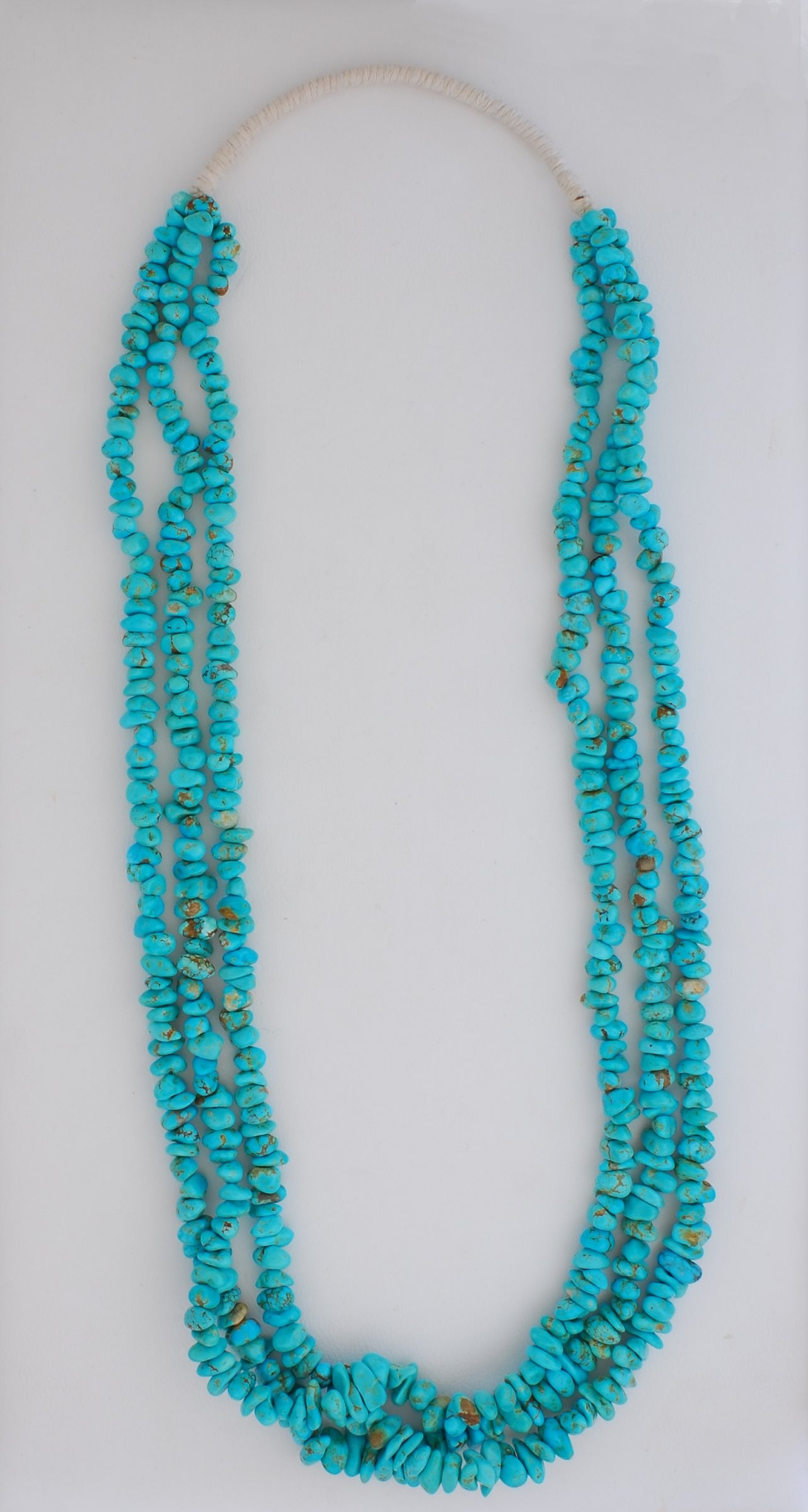 3-Strand Pueblo Wrap Turquoise Necklace by Calvin & Pilar Lovato