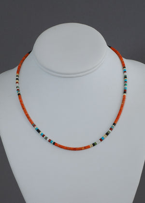 Muliticolor Heishi Choker by Doreen Calabaza
