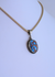 Sterling Silver Pendant with Golden Hills Turquoise