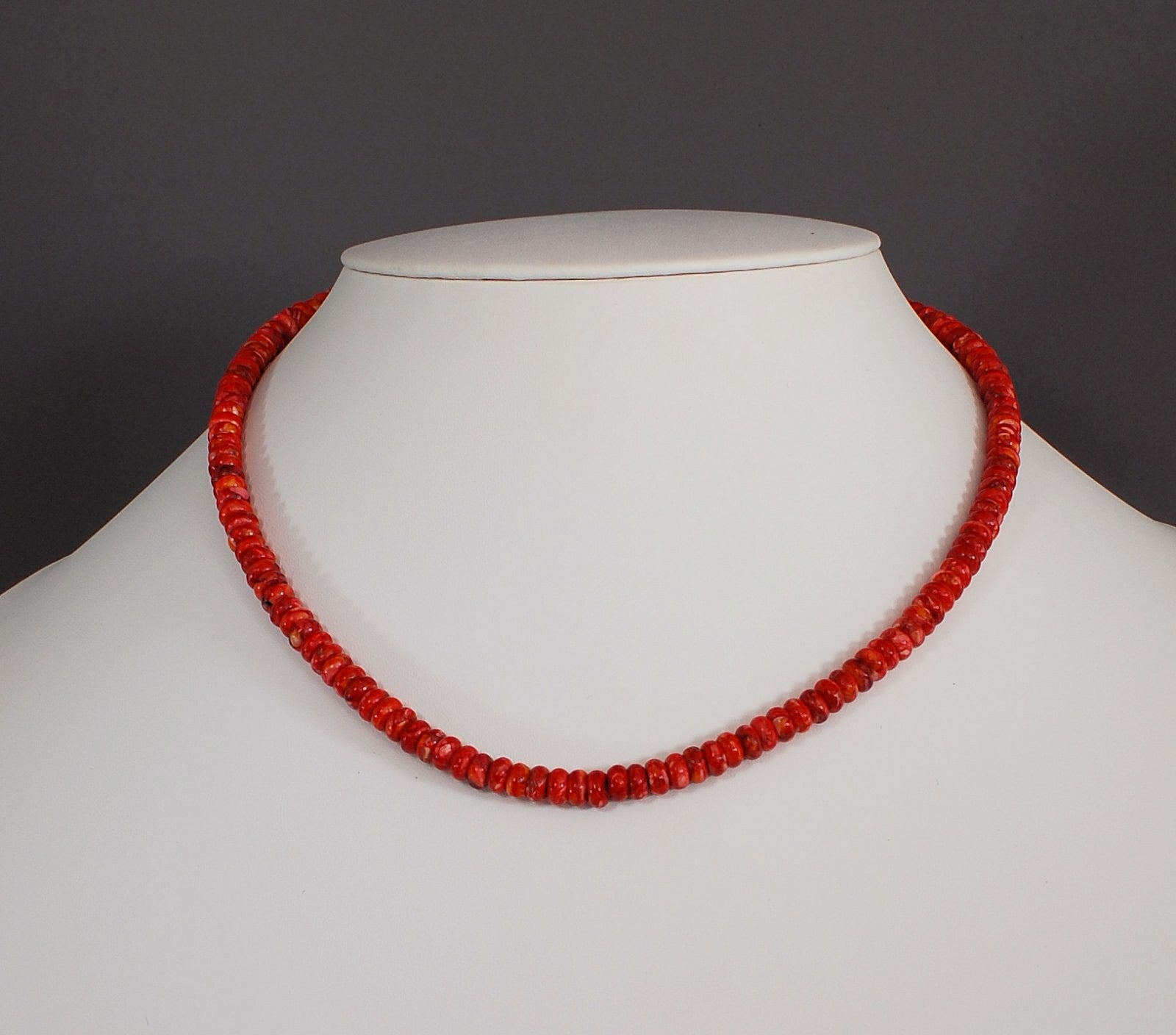 Red Spiny Oyster Shell bead Necklace