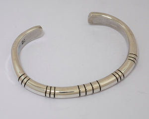 Bracelet with Heavy Sterling Silver Cuff by Michael Tahe