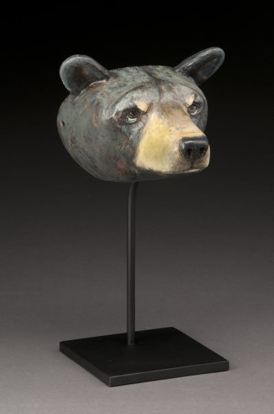 Bear Mask on Stand by Hib Sabin