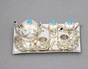 Miniature Sterling Silver TEA SET by Wesley Whittman