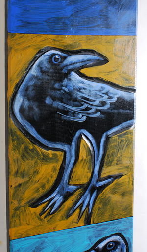 """Two Crows"" Acrylic on Board by Leland Holiday"