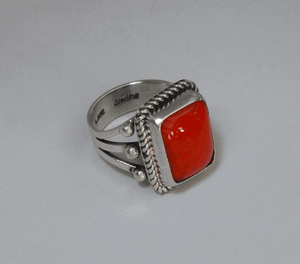 Red Coral Ring by Geneva Ramone