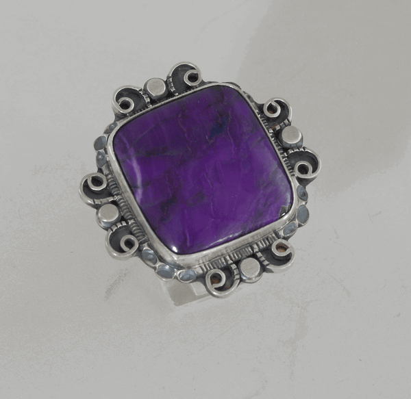 Sugilite and Sterling Silver Ring by Leonard Chee