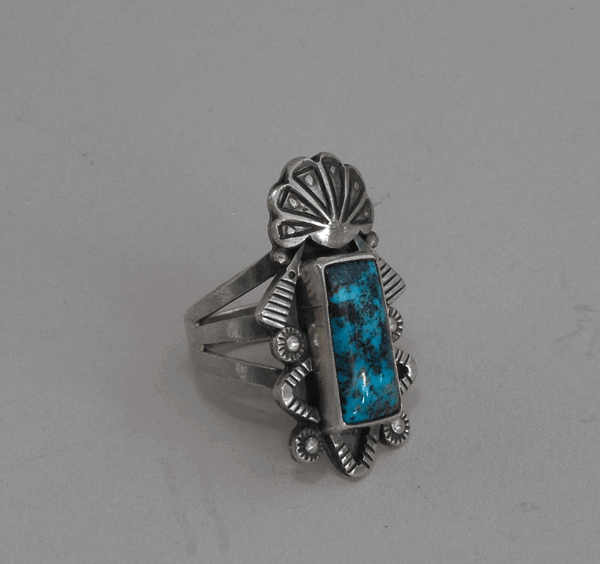 Ring by Leonard Chee; Pilot Mtn Turquoise