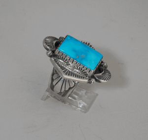 Sleeping Beauty Turquoise Ring by Delbert Vanderveer
