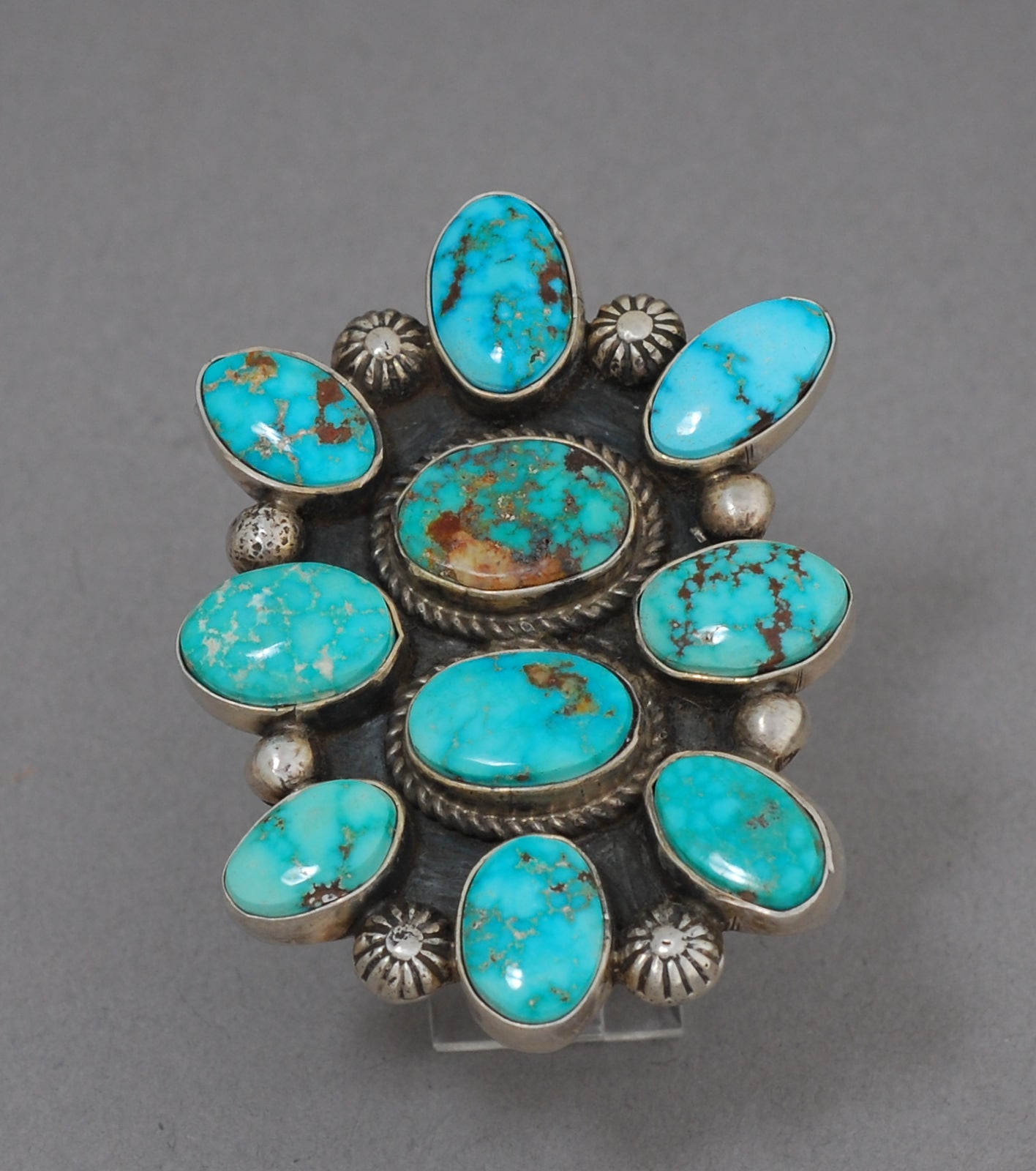 Turquoise Cluster Ring by Albert Jake
