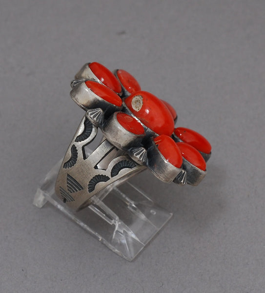 Ring Leonard Chee 9 Stone Coral