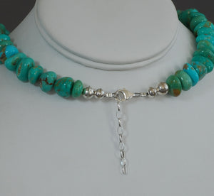 Turquoise Nugget Necklace by Laura Aguilar