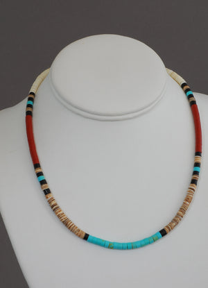Multicolor Heishe Choker by Torevia Crespin