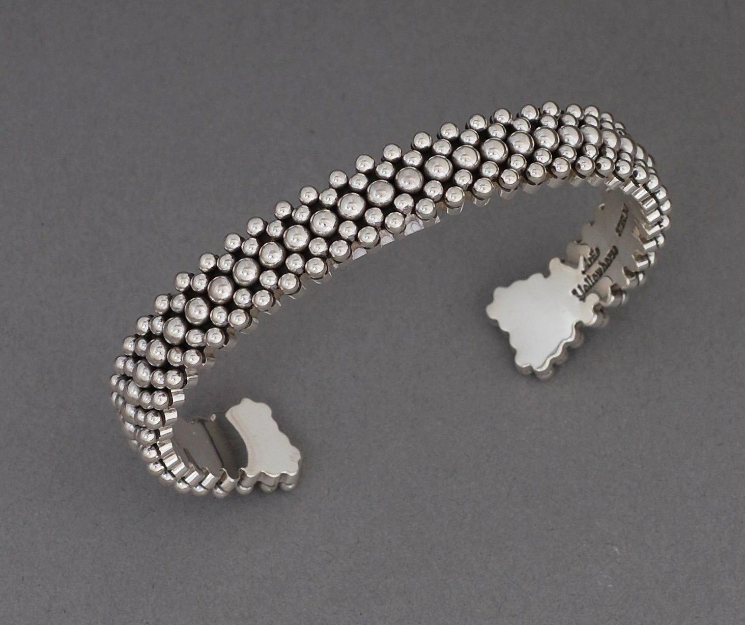 Cuff Bracelet with full beading, by Artie Yellowhorse (Navajo)