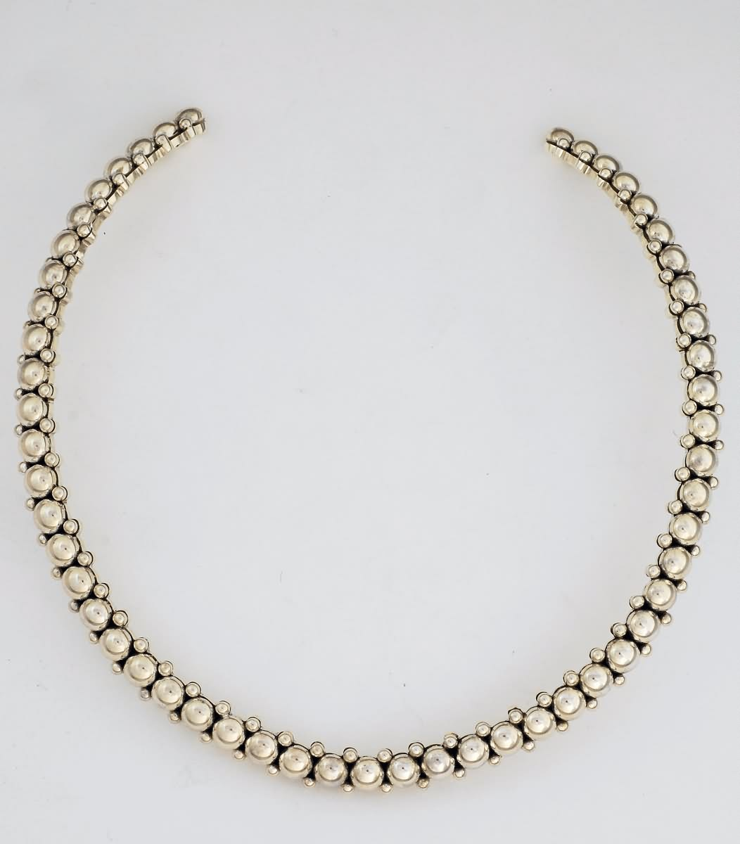 Collar, Solid Sterling Silver by Artie Yellowhorse (Navajo)