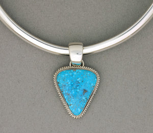 Pendant by Artie Yellowhorse with Kingman Turquoise