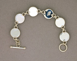 Bracelet by Artie Yellowhorse, Links, in Sterling Silver