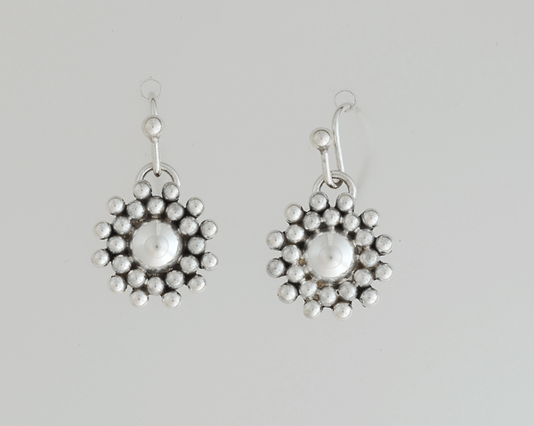 Artie Yellowhorse Sterling Sunburst Earrings