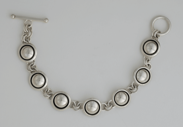 Artie Yellowhorse Sterling Dome Link Bracelet