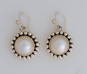 Pearl Dome Earrings by Artie Yellowhorse