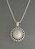 Pearl Pendant with Dots by Artie Yellowhorse