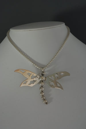 Sterling Silver Dragonfly Pendant by Artie Yellowhorse