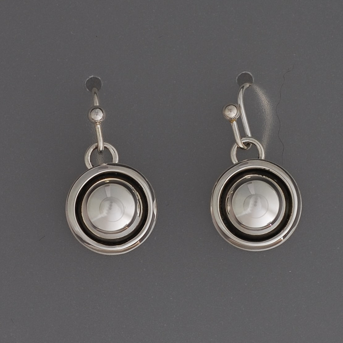 Small Dome Earrings on wires by Artie Yellowhorse