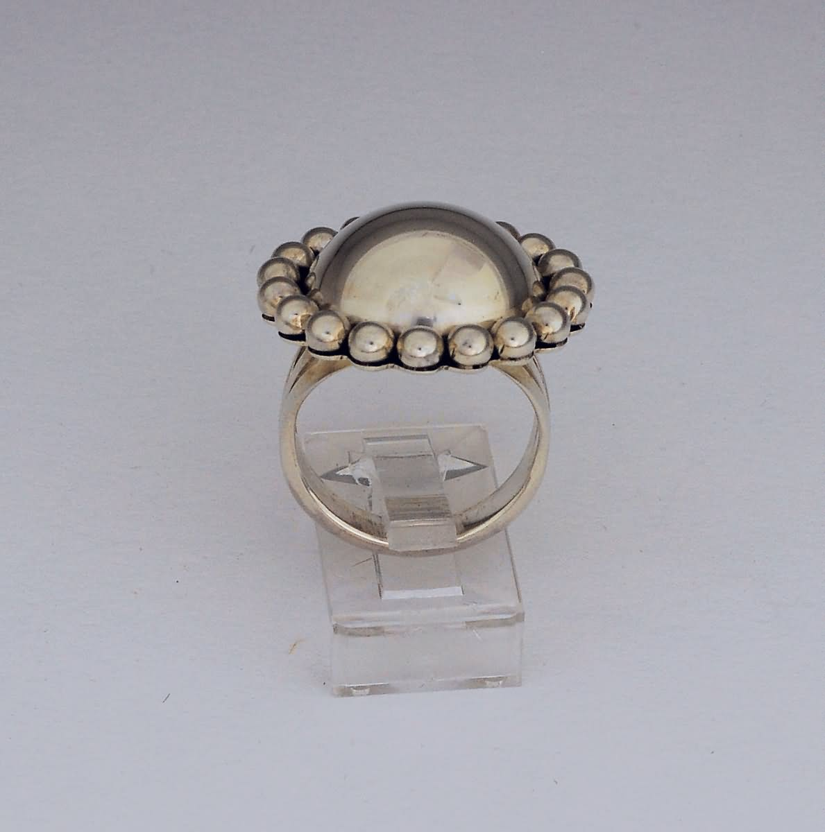 Large Dome with Dots ring