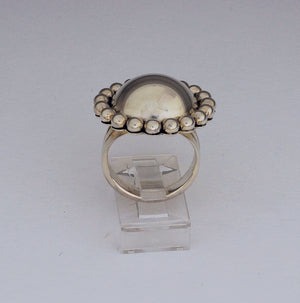 Large Dome Ring (with Dots) by Artie Yellowhorse