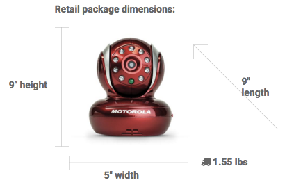 Motorola Blink Product Dimensions