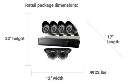 Revo 8 Channel Surveillance Kit Specs