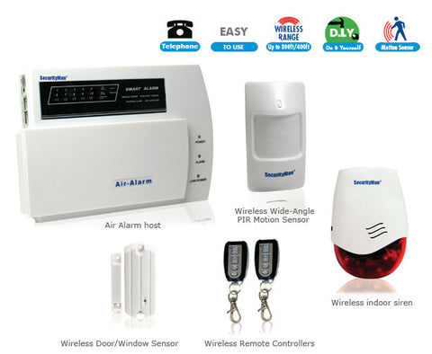 SEC-AIR-ALARM1 D.I.Y. Wireless Home Alarm System Kit by SecurityMan