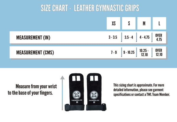 Leather Gymnastic Grips Size Guide