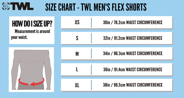 TWL Gear - Flex Short - Sizing Chart 2017