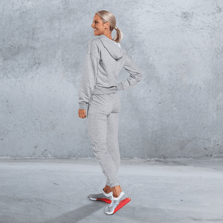 Reebok - Women's Training Essentials Full-Zip Hoodie - MEDIUM GREY HEATHER