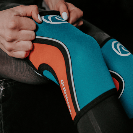 Rehband - RX Knee Sleeve - 5mm - Teal/Orange - SINGLE