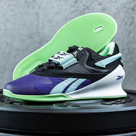 Reebok - Legacy Lifter II Shoes - Women's - DARK ORCHID/CORE BLACK/NEON MINT