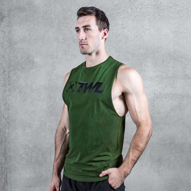 TWL - EVERYDAY MUSCLE TANK 2.0 -  DARK KHAKI/BLACK