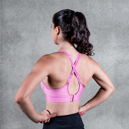 Under Armour - Women's UA Infinity Mid Sports Bra - Planet Pink/Meteor Pink