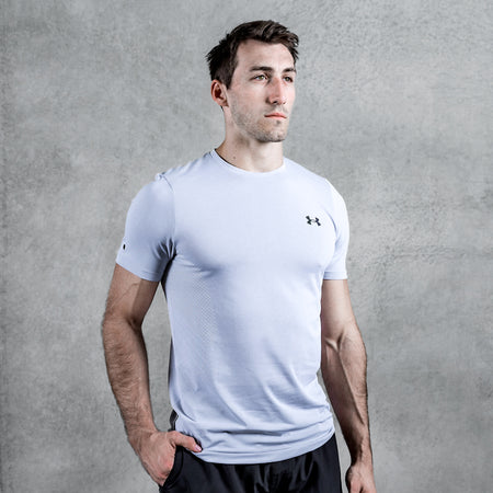 Under Armour - Men's UA RUSH Seamless Short Sleeve - Halo Gray