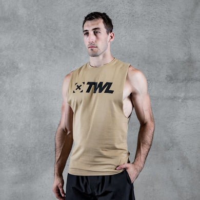 TWL - EVERYDAY MUSCLE TANK 2.0 -  SAND/BLACK